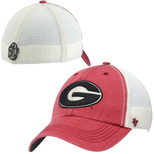 '47 NCAA Georgia Bulldogs Mens Caprock Canyon Closer Mesh Fit Hat, Red, One Size Stretch ()