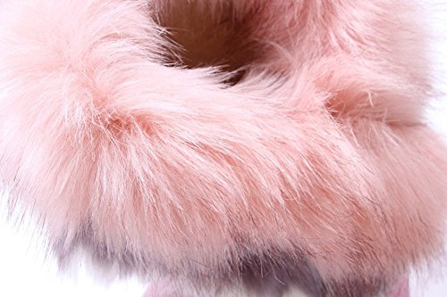 Stivali Donna Not100 (taglia 10 Va Bene) (pelliccia Calda) (nappa) Rosa-n