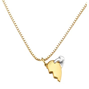 bd57423f6d38 Plata de ley S925 Colgante Collar Rompecabezas Corazón Heart Love Hombre  Mujer Caja de regalo con flor rosa y bolsa de regalo