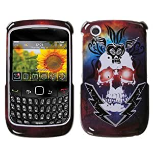 Lightning Skull Phone Protector Faceplate Cover For RIM BLACKBERRY 8520(Curve), 8530(Curve), 9300(Curve 3G), 9330(Curve 3G)