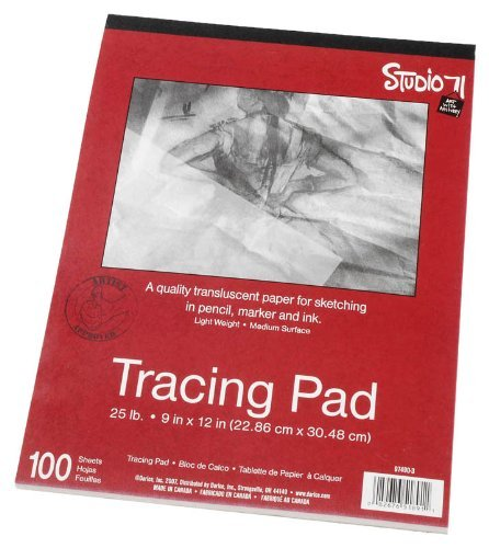 Darice 9-Inch-by-12-Inch Tracing Paper.