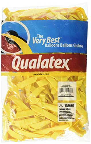 Pioneer Balloon Company 350Q Latex Balloons, Citrine Yellow - 100 count