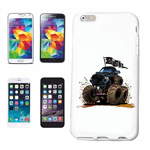 """cas de téléphone iPhone 7+ Plus """"OFF ROAD 4X4 MONSTER TRUCK 4 × 4 LANDROVER BUGGY AUTOCROSS Stockcar RACE"""" Hard Case Cover Téléphone Covers Smart Cover pour Apple iPhone en blanc"""