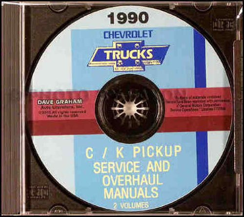 1990 CHEVY - CHEVROLET C & K PICKUP TRUCK REPAIR SHOP & SERVICE MANUAL CD Blazer Suburban Vans Dually 90