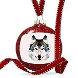 Christmas Decoration Geometric Animal art Wolf Ornament