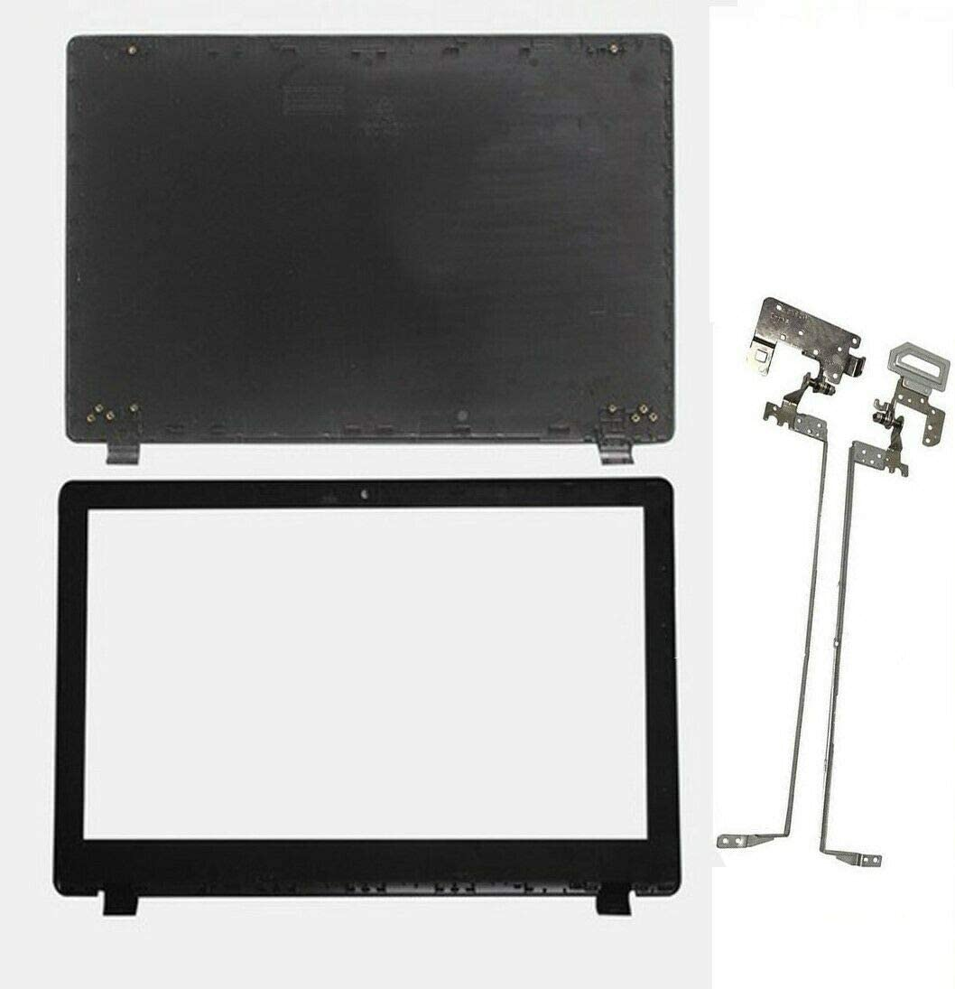 Replace Compatible for Acer Aspire E5-531 E5-551 E5-551G E5-571 E5-511P E5-521 E5-571 E5-572G Z5WAH Laptop Top LCD Back Cover Rear Lid Case & Front Bezel Trim & Hinges Sets Kit