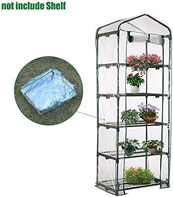 Ligege planta de invernadero de plástico Mini PVC claro jardín casa verde (soporte de hierro no incluido) (C): Amazon.es: Jardín