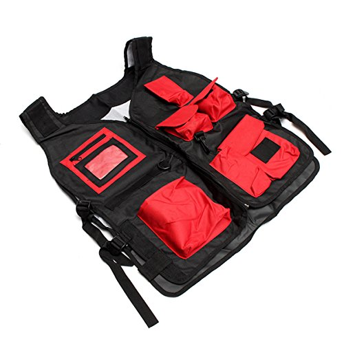Tool Organizers Electrician Carpenter Plumber Craftman Construction Pouch Bag Tool Vest by Yoton (Image #7)