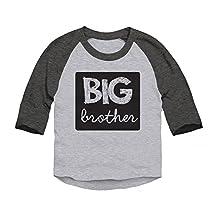 Trunk Candy Boys Toddler Big Brother 3/4 Sleeve Raglan Baseball T-shirt