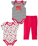 Juicy Couture Baby Girls' 3 Pieces Bodysuit Pants