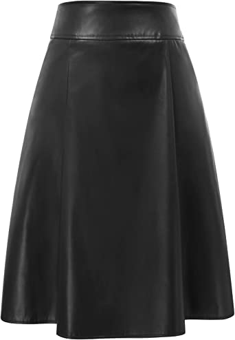 Belle Poque Falda Mujer Bolsillos Vintage Acampanados con ...
