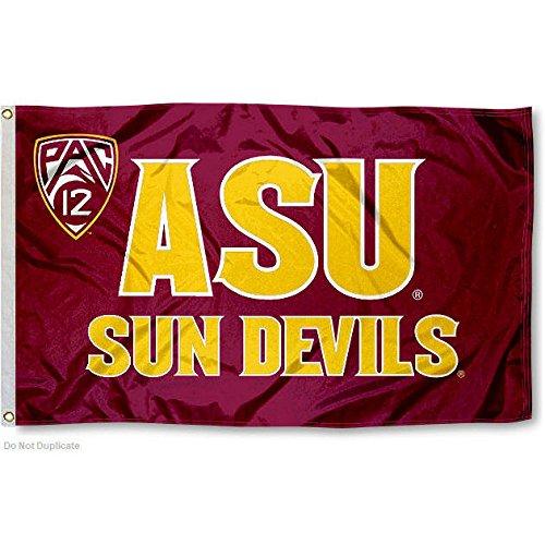 Arizona State Sun Devils Pac 12 Logo Flag