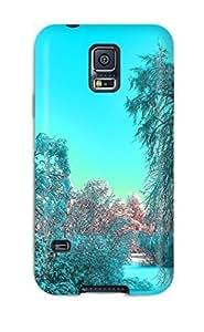For XcJglIQ11067ondqi Cerulean Winter Protective Case Cover Skin/galaxy S5 Case Cover