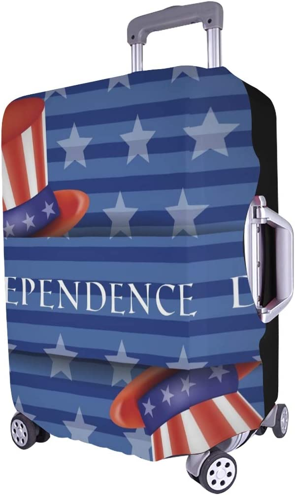 Happy Independence Day Spandex Trolley Case Travel Luggage Protector Suitcase Cover 28.5 X 20.5 Inch