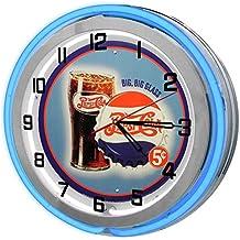 "Vintage Pepsi-Cola 18"" Blue Double Neon Clock from Redeye Laserworks"