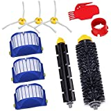 GHB Parts for iRobot Roomba 595 620 630 645 650 655 660 Replenishment Kit 10Pcs 600 Series Replacement Brushes Kit