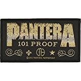 Pantera 101 proof Whiskey Label Official Patch (10cm x 5cm)
