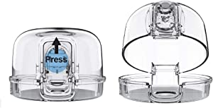 Clear Stove Knob Covers (5 Pack) Child Safety Guards, Large Universal Design - Baby Proof