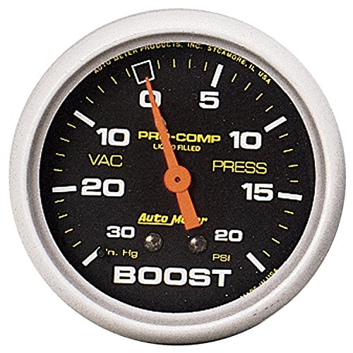 (Auto Meter 5401 Pro-Comp Liquid-Filled Mechanical Vacuum/Boost Gauge)