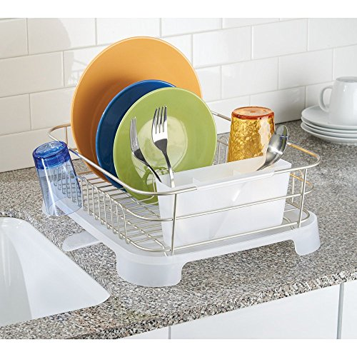 Interdesign Metro Aluminum Dish Drainer With Swivel Spout