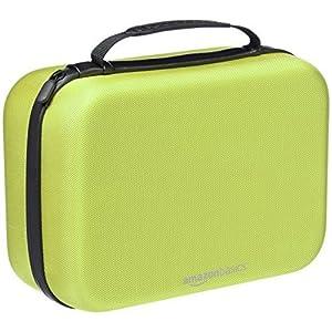 AmazonBasics Travel and Storage Case for Nintendo Switch, Neon Yellow