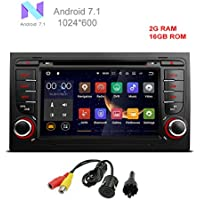 MCWAUTO Android 7.1 Car GPS Stereo For Audi A4 S4 RS4 2002 2003 2004 2005 2006 2007 2008 Quad Core BT Radio RDS USB Mirrorlink SWC Reverse Camera