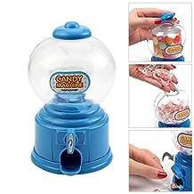 Chunshop Cute Mini Blue Bubble Gum Ball Candy Dispenser Machine Coin Box Kid Toy Moneybox