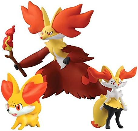 Bizak Pokémon - Pack Evolución Fennekin (Battle Pose), Braixen ...