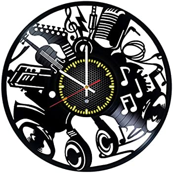 Amazoncom Vinyl Evolution VE745 Record Wall Clock Home Kitchen
