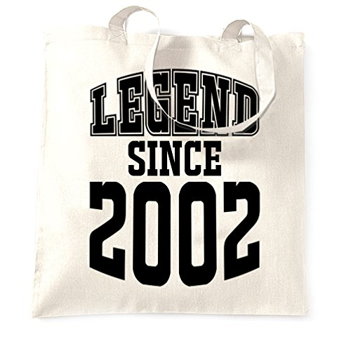 Since 2002 White Bag 16th Tote Legend Birthday Shopping Hq00XWfO