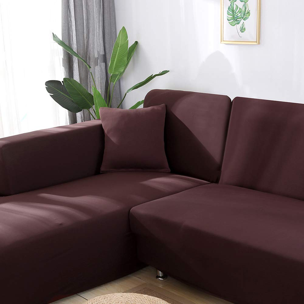LASPERAL L Shape Sofa Slipcover Pet protector Couch Covers Anti-slip Stain Resistant Furniture Protector Modern Sectional Corner Sofa Covers