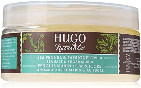 Hugo Naturals Body Scrub, Sea Fennel & Passion Flower, 9 Ounce Jar
