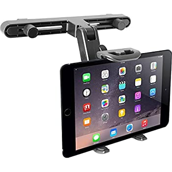 Macally Adjustable Car Seat Headrest Mount and Holder for Apple iPad Air / Mini, Samsung Galaxy Tab, Kindle Fire, Nintendo Switch, and 7
