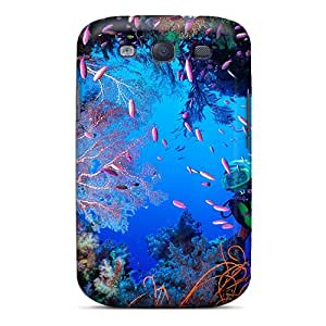 Galaxy S3 Case Cover - Slim Fit Tpu Protector Shock Absorbent Case (coral Cave)