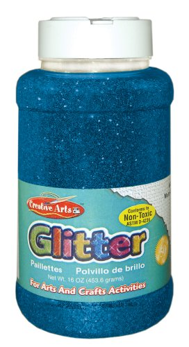 Creative Arts by Charles Leonard Glitter, 16 Ounce Bottle, Blue (41115) by Charles Leonard