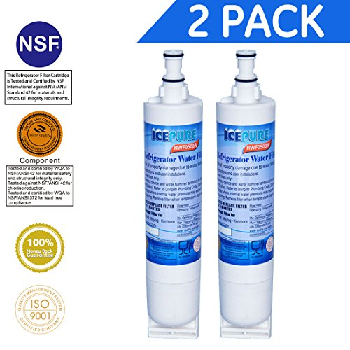 Price comparison product image IcePure Premium Refrigerator Replacement Water Filter, compatible with Whirlpool PUR 4396508, 4396510 for Kitchenaid Maytag Whirlpool Side By Side Refrigerator (2 pack)