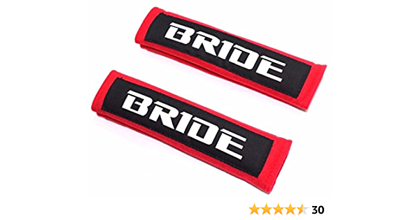 MADE IN JAPAN JDM style Black Faux Suede Fabric Seat Belt Shoulder Pads