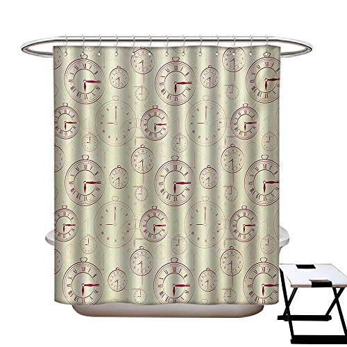 Used, Clock Shower Curtains Fabric Extra Long Vintage Watches for sale  Delivered anywhere in USA