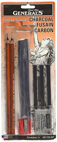 Willow Sketching Charcoal (General Pencil Charcoal Drawing Essentials Tool Kit, 11-Piece)