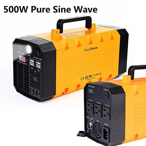 买便宜的7lb 500w 288wh backup portable generator solar power source inverter ups 26000mah battery supply powerhouse