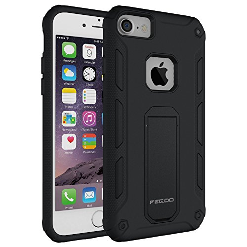 Case for iPhone 6,[iPhone 7 iPhone 6 iPhone 6s universal shell] Impact Resistant Heavy Duty ShockProof Rugged Impact Armor Hybrid Kickstand Protective Cover Case for iPhone 7 / 6 / 6s (4.7) (Black)