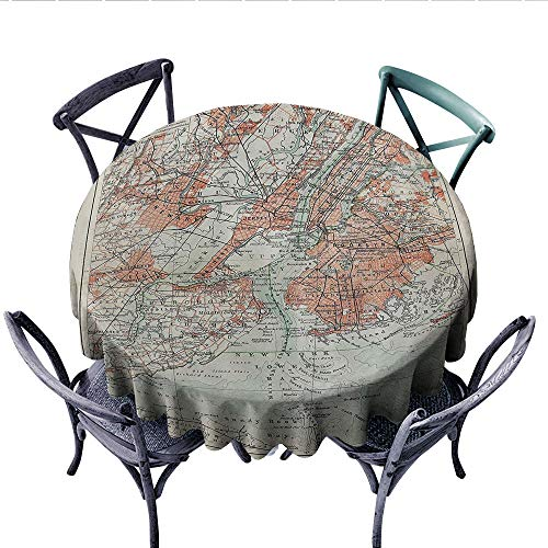 NYC Decor Collection Printed Circle Tablecloth New York