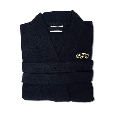 c5bde265d2 KYS 100% Cotton Personalized Premium Waffle Robe at Amazon Men s ...