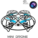 RC Mini Quadcopter Mini Drone with Camera Live Video, 2.4GHz 6-Axis Gyro Wifi FPV Quad UFO Drone with Altitude Hold, Summer Gift, FPV Real Time/MR Game/Throw out to fly (Blue),DIYI Model D26CI