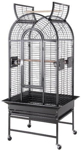 BirdsComfort HQ Medium Amazons Bird Cage 26x22 - Black