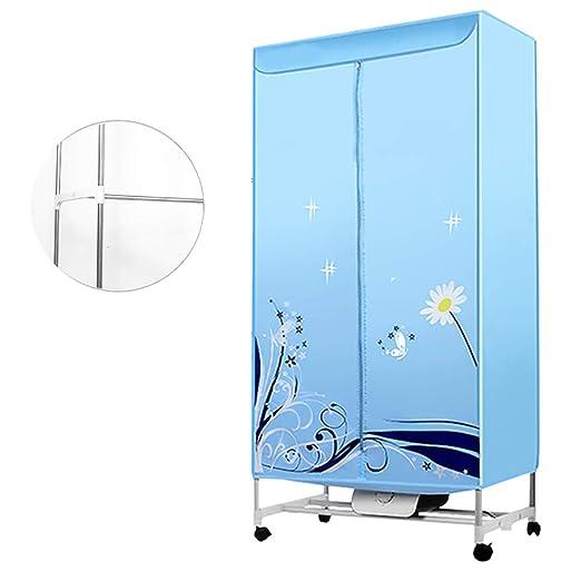 ZY Clothes Dryer Mini Secadora de Ropa portátil, Armario de Acero Inoxidable de Doble Capa con Calentador, para el hogar Secadora eléctrica Secadora de Ropa para Viajes Bebé Individual: Amazon.es: Hogar