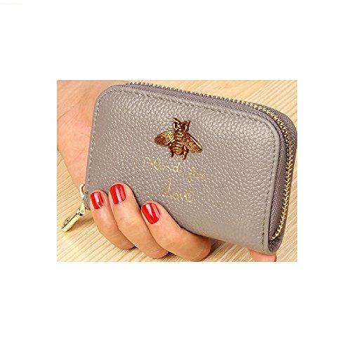 WESTERN AUSPICIOUS Genuine Leather Women Business Card Holder Wallet Bank Credit Card Holders Women (Vinyl Business Card Album)