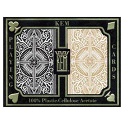 Carte Kem Arrow Black & Gold poker size Jumbo I.