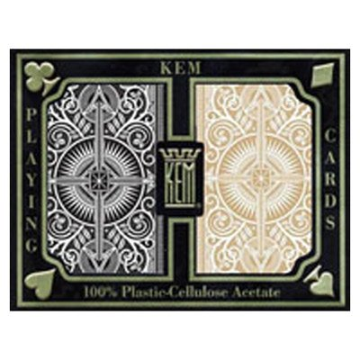 Carte Kem Arrow Black & Gold poker size