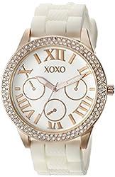 XOXO Women's XO8088 Analog Display Analog Quartz White Watch
